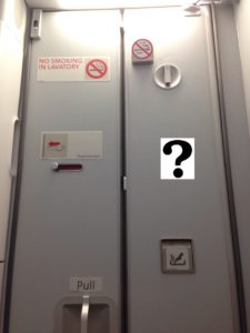 Lavatory Door with question mark